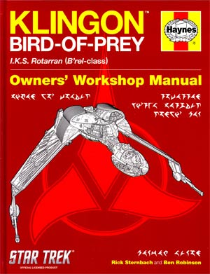 Star Trek Klingon Bird Of Prey Haynes Owners Manual HC