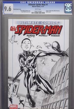 Ultimate Comics Spider-Man Vol 2 #1 Limited Edition Sara Pichelli Sketch Cover CGC 9.6