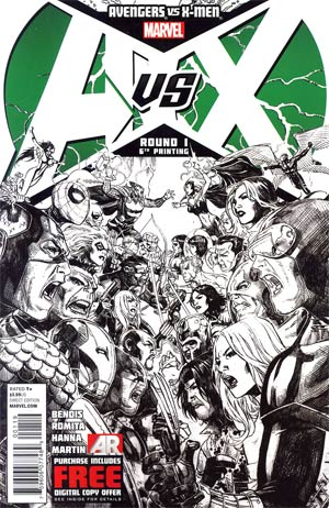 Avengers vs X-Men #1 Cover N 6th Ptg Jim Cheung Variant Cover