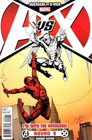 Avengers vs X-Men #9 Variant Team Avengers Cover