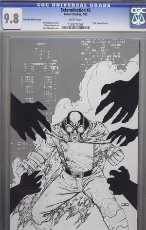 Extermination #2 Incentive John Cassaday Virgin Sketch Variant Cover CGC 9.8