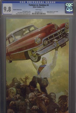 Fanboys vs Zombies #4 Incentive Arthur Suydam Virgin Variant Cover CGC 9.8