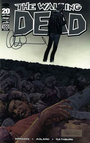 Walking Dead #100 DF Chromium Cover Signed By Charlie Adlard
