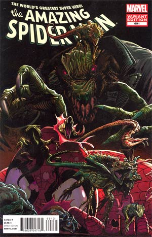 Amazing Spider-Man Vol 2 #691 Incentive Lizard Variant Cover