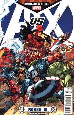 Avengers vs X-Men #10 Incentive Nick Bradshaw Variant Cover
