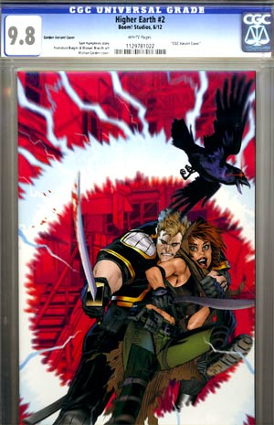 Higher Earth #2 Incentive Michael Golden Variant Cover CGC 9.8