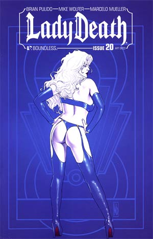 Lady Death Vol 3 #20 Incentive Art Deco Variant Cover