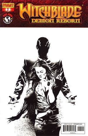 Witchblade Demon Reborn #1 Incentive Dennis Calero Black & White Cover