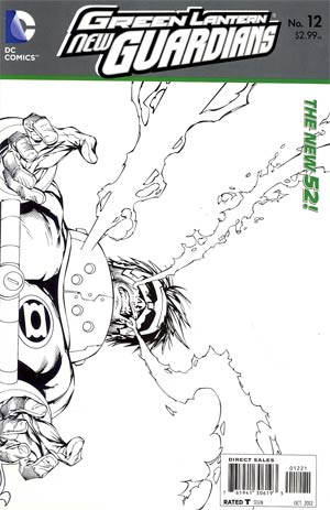 Green Lantern New Guardians #12 Incentive Tyler Kirkham Sketch Cover