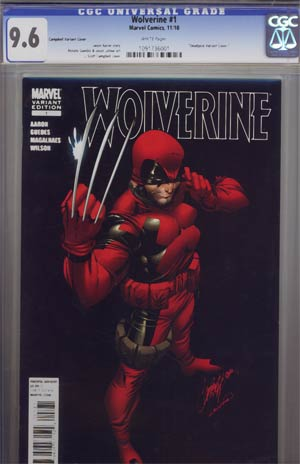 Wolverine Vol 4 #1 Incentive J Scott Campbell Deadpool Variant Cover CGC 9.6