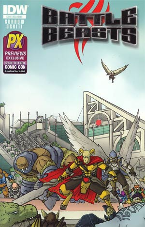 Battle Beasts Vol 2 #1 SDCC 2012 Retailer Exclusive Ulises Farina Variant Cover