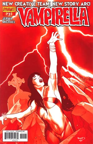 Vampirella Vol 4 #21 Incentive Paul Renaud Blood Red Cover