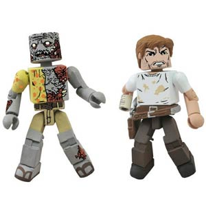 Walking Dead Minimates Rick & Zombie 2-Pack SDCC 2012 Exclusive
