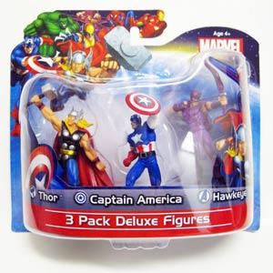 Marvel Heroes 3-Pack 4-Inch Figures Captain America Hawkeye Thor
