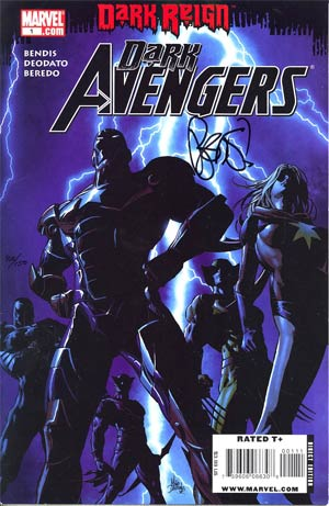 Dark Avengers #1 DF Signed By Brian Michael Bendis
