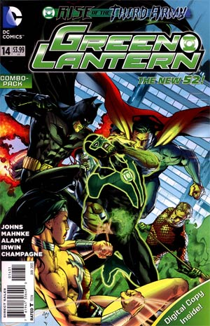 Green Lantern Vol 5 #14 Combo Pack With Polybag (Rise Of The Third Army Tie-In)