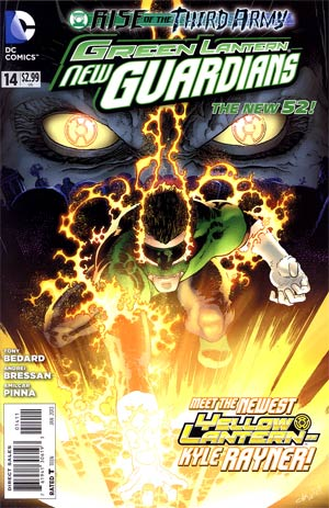Green Lantern New Guardians #14 Regular Aaron Kuder Cover (Rise Of The Third Army Tie-In)
