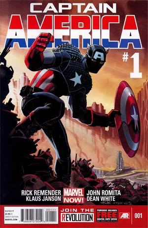 Captain America Vol 7 #1 1st Ptg Regular John Romita Jr Cover