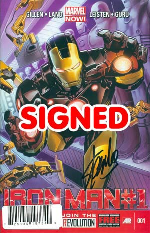 Iron Man Vol 5 #1 Cover K DF Marquee Edition Signed By Stan Lee