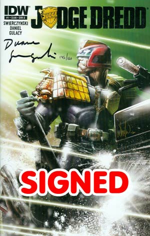 Judge Dredd Vol 4 #1 DF Signed By Dwayne Swierczynski