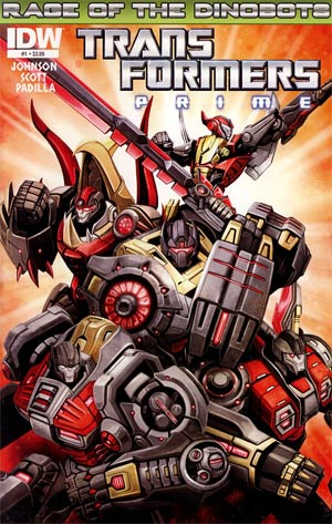 Transformers Prime Rage Of The Dinobots #1 Regular Ken Christiansen Cover