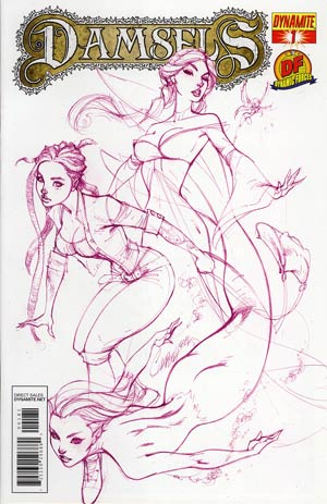 Damsels #1 DF Exclusive J Scott Campbell Royal Purple Cover