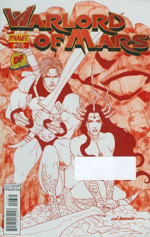 Warlord Of Mars #26 Cover D DF Exclusive Martian Red Risque Cover