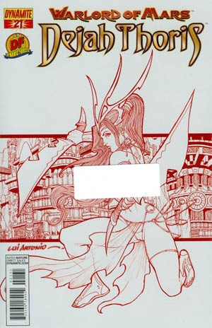Warlord Of Mars Dejah Thoris #21 DF Exclusive Martian Red Risque Cover