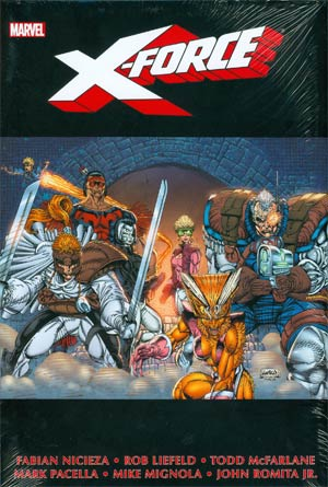 X-Force Omnibus Vol 1 HC Book Market Rob Liefeld Cover