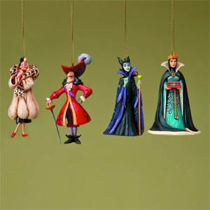 Disney Traditions Villain Ornament Set