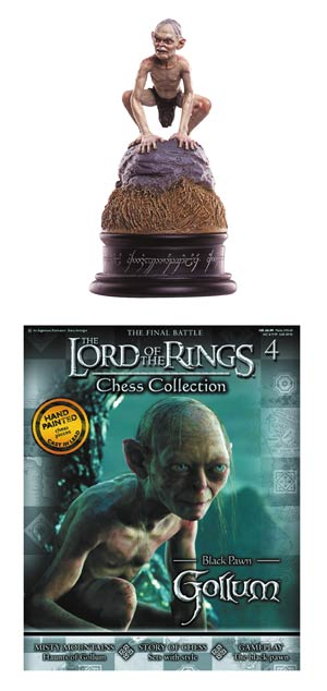 Lord Of The Rings Chess Figurine Collection Magazine #4 Gollum Black Pawn