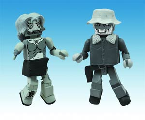 Walking Dead Minimates Halloween 2012 Black & White 2-Pack