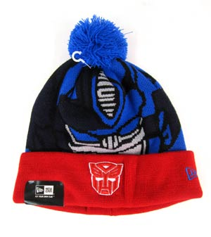 Woven Biggie Knit Cap - Optimus Prime