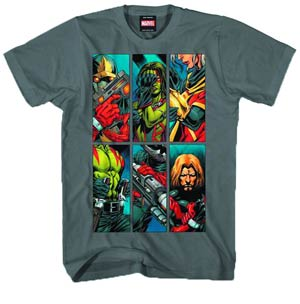 Guardians Of The Galaxy Power Of Six Silver T-Shirt Large
