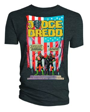 Judge Dredd U.S. Flag T-Shirt Large