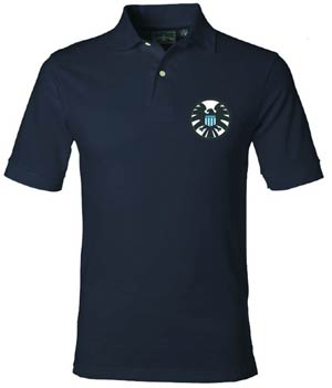 Marvel Classic S.H.I.E.L.D. Logo Previews Exclusive Polo Shirt Medium