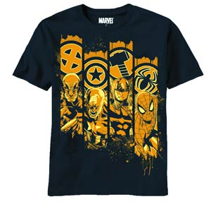 Marvel Heroes Pillars Previews Exclusive Navy T-Shirt Large