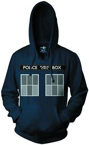Doctor Who TARDIS Costume Hoodie Medium