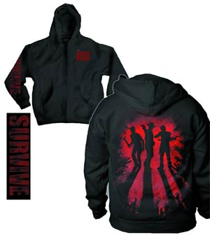 Walking Dead Survive Silhouette Previews Exclusive Zip-Up Hoodie Large