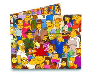 Simpsons Mighty Wallet - Cast