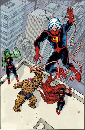 FF Marvel Now By Mike Allred Poster