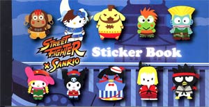 Street Fighter x Sanrio Sticker Book