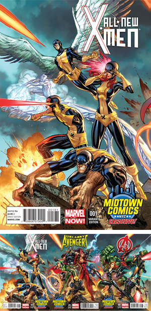 All-New X-Men #1 Midtown Exclusive J Scott Campbell Connecting Variant Cover (Part 2 of 3)