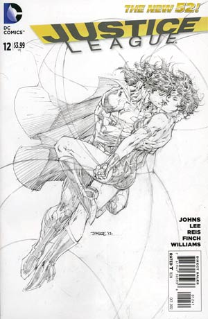 Justice League Vol 2 #12 Incentive Jim Lee Sketch Cover