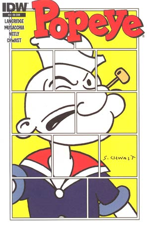 Popeye Vol 3 #4 Incentive Seymour Chwast Variant Cover