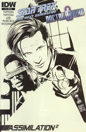 Star Trek The Next Generation Doctor Who Assimilation2 #4 Incentive Francesco Francavilla Sketch Cover