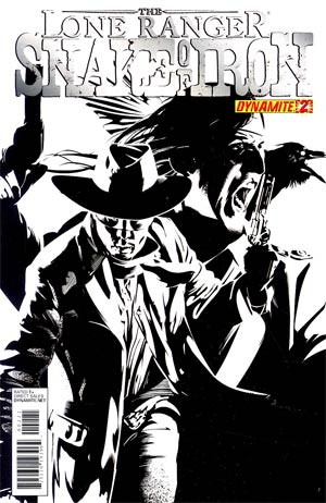 Lone Ranger Snake Of Iron #2 Cover B Incentive Dennis Calero Black & White Cover
