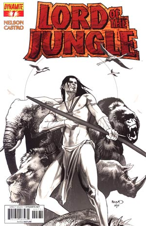 Lord Of The Jungle #7 Incentive Paul Renaud Black & White Cover
