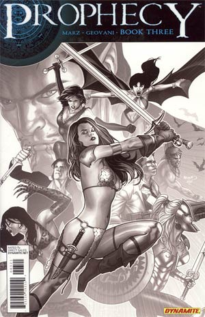 Prophecy #3 Incentive Paul Renaud Black & White Cover