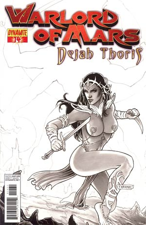 Warlord Of Mars Dejah Thoris #14 Incentive Fabiano Neves Black & White Cover